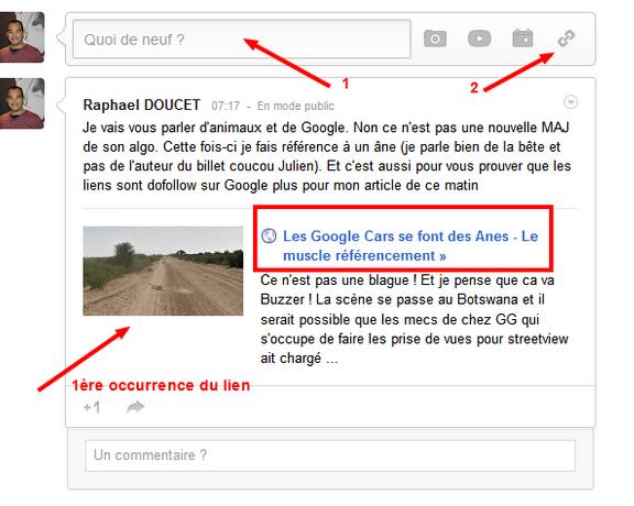 google plus dofollow