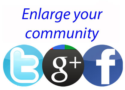 communaute twitter facebook google plus