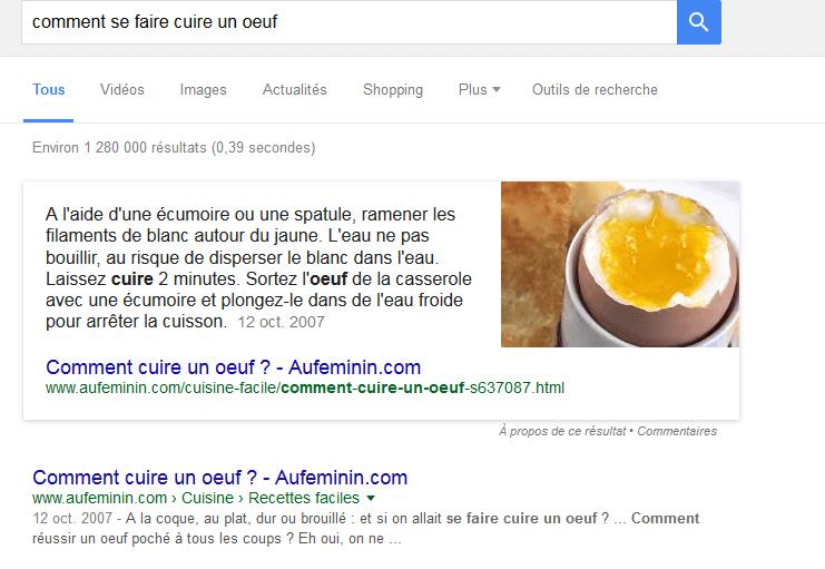 comment se faire cuire un oeuf Recherche Google