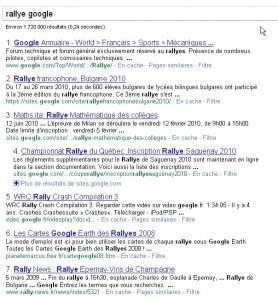 position moteur de recherche