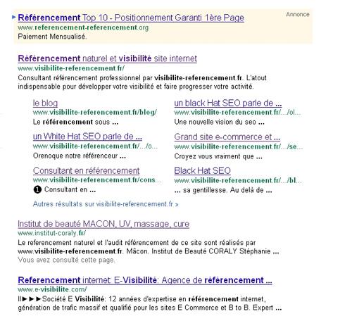 nouvelles serps google