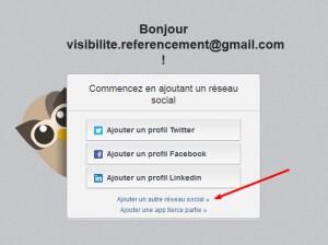 création profil google + sur hootsuite