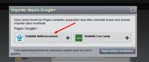 Importation de la page Google +
