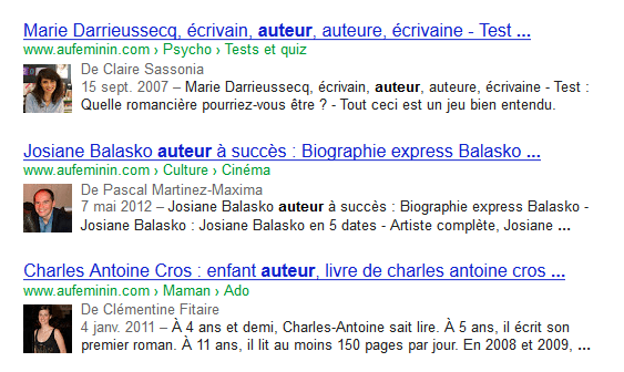 authorship aufeminin