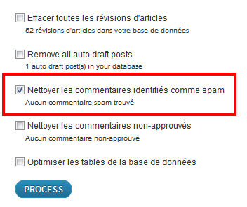 WP Optimize indesirable